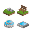 isometric icon set design vector image