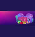 kids lunch box concept banner header vector image vector image