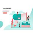 loudspeaker concept modern flat design concept vector image