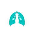 lungs solid icon organ and part of body vector image vector image