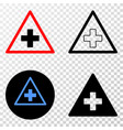 medical warning triangle eps icon with vector image vector image