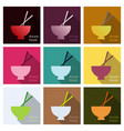 miso soup japanese food graphic object top view vector image vector image