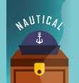 nautical maritime design vector image vector image