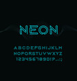 neon type font glowing alphabet letters vector image
