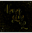 never give up black vector image