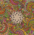 pattern of the indian floral ornament vector image