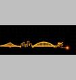 pittsburgh light streak skyline vector image