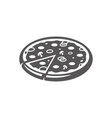 pizza icon isolated on white background vector image vector image