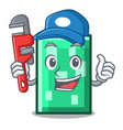 plumber rectangle mascot cartoon style vector image