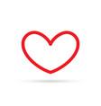 popular heart drawing love valentine sign symbol vector image vector image