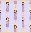 pregnancy motherhood people expectation seamless vector image vector image