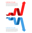 progress recession infographic template vector image vector image