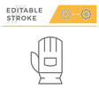 protective glove line icon vector image vector image