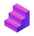 purple stairs icon isometric style vector image