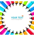 rainbow marker frame vector image vector image