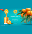 realistic natural fruit juice template vector image