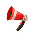 red megaphone flat icon isolated on white vector image