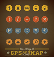 Retro Gps Icons vector image