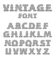 retro mono line decorative font vector image vector image