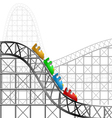 Roller coaster vector image vector image