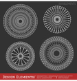 Set of geometric hipster shapes and vector image vector image