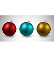 Set of realistic christmas balls vector image vector image