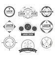 Set of vintage retro tools labels vector image vector image