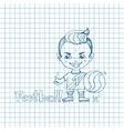 Sketch Boy Football-Player vector image