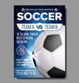 soccer poster sports bar game event vector image vector image