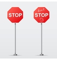 Stop and Dont Stop road sign isolated vector image vector image
