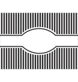striped background black and white vector image vector image