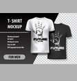 t-shirt template fully editable with robot hand vector image vector image