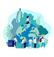 take care earth environmental protection vector image