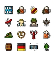 Thin line Oktoberfest icons vector image