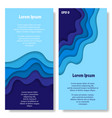 two paper cut banners vector image vector image