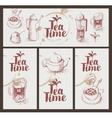utensils for drinking tea vector image vector image