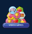 video games design vector image vector image