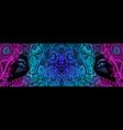 vintage cyberpunk fantastic psychedelic colorful vector image vector image