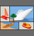 water transport set vector image