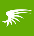 wing icon green vector image vector image