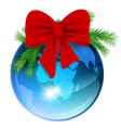 world new year ball vector image