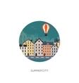 City silhouettes Cityscape vector image