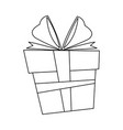christmas box gift ornament decoration outline vector image