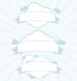 Cloud service vintage banner set vector image