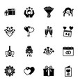 16 holiday filled icons set isolated on white vector image vector image