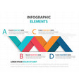 abstract colorful label business infographics vector image vector image