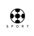 abstract icon design template soccer ball vector image