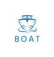 abstract motor boat design template vector image