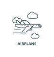 airplane line icon airplane outline sign vector image