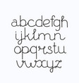 alphabet hand print letters numbers symbols vector image vector image